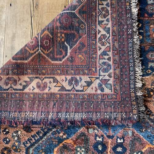 Old Hand Knotted Persian Rug Quashqui Superb Village Piece image-4