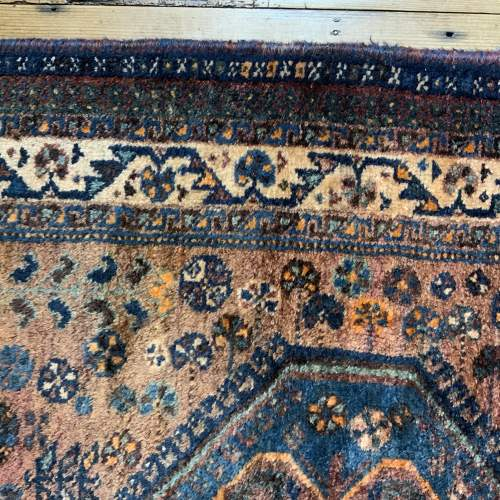 Old Hand Knotted Persian Rug Quashqui Superb Village Piece image-5