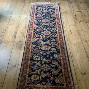 Superb Hand Knotted Rumanian Tabriz Runner Floral All Over Design