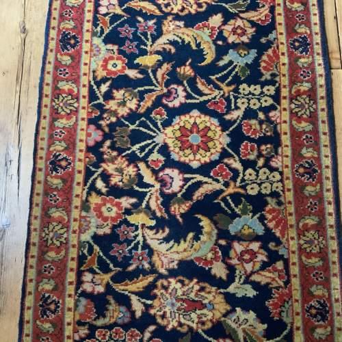 Superb Hand Knotted Rumanian Tabriz Runner Floral All Over Design image-2