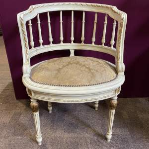 Superb Old French Gallery Back Tub Chair