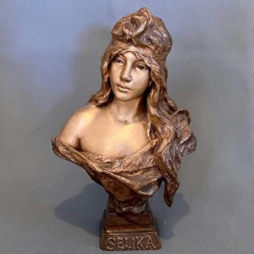 20th Century Selika by Villanis Bronze Bust image-1