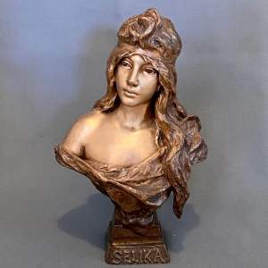 20th Century Selika by Villanis Bronze Bust