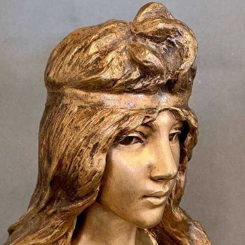 20th Century Selika by Villanis Bronze Bust image-3