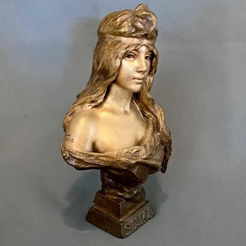 20th Century Selika by Villanis Bronze Bust image-2