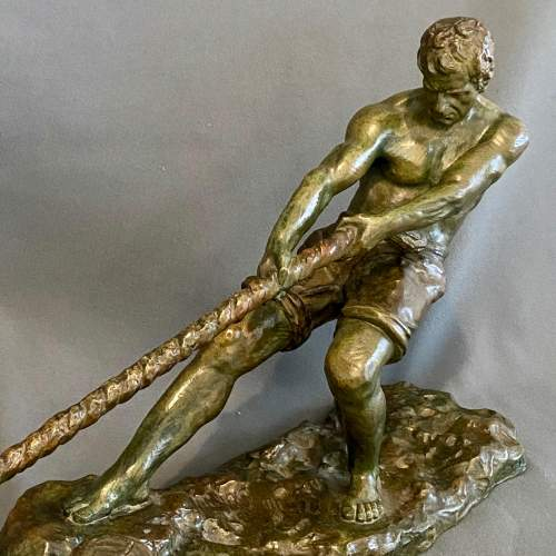 Early 20th Century Alexandre Outline La Force Bronze Figure image-2