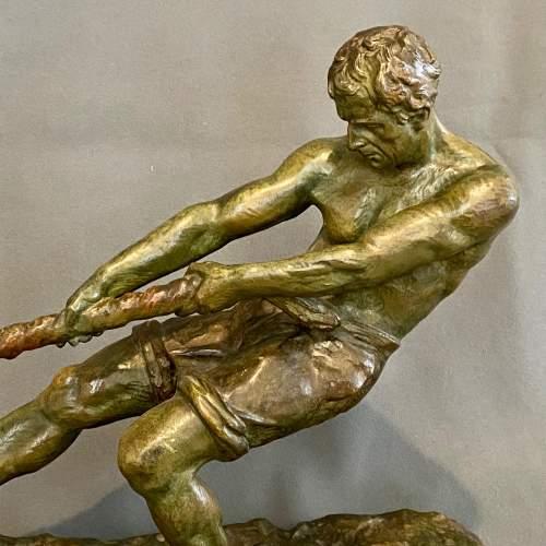 Early 20th Century Alexandre Outline La Force Bronze Figure image-3
