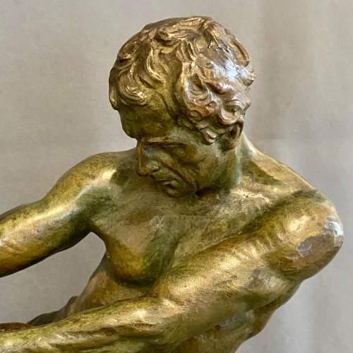 Early 20th Century Alexandre Outline La Force Bronze Figure image-4