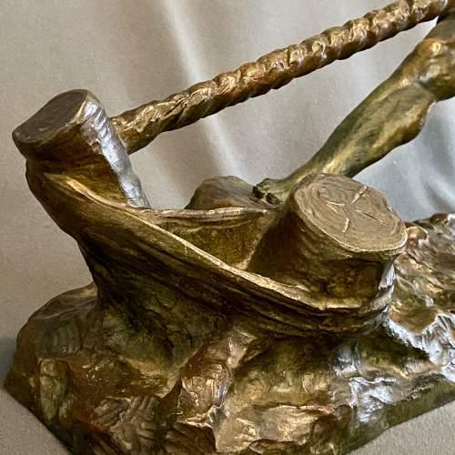 Early 20th Century Alexandre Outline La Force Bronze Figure image-5