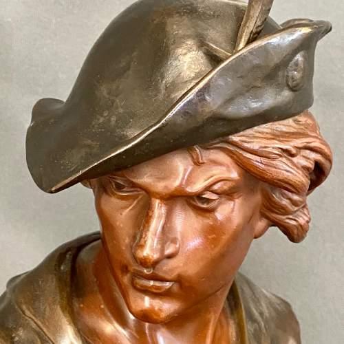 19th Century L'Escholier Bronze Bust by Emile-Louis Picault image-3