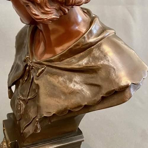 19th Century L'Escholier Bronze Bust by Emile-Louis Picault image-4