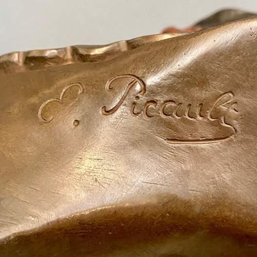 19th Century L'Escholier Bronze Bust by Emile-Louis Picault image-5