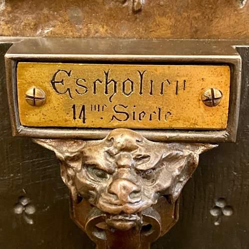 19th Century L'Escholier Bronze Bust by Emile-Louis Picault image-6