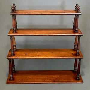 19th Century Mahogany Set of Open Bookshelves