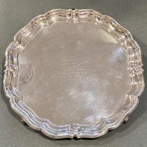 Mid 20th Century Solid Silver Salver