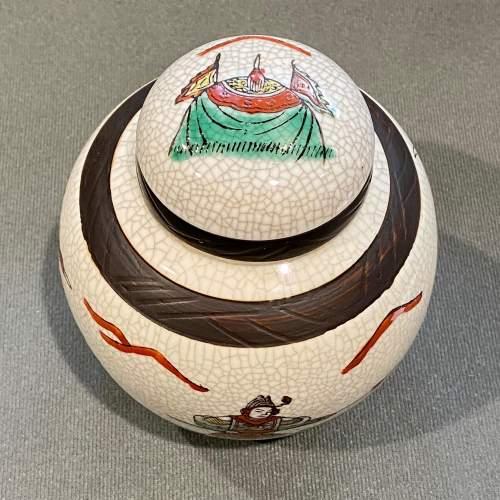Japanese Crackle Finish Small Lidded Jar image-4