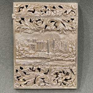 Rare Early Victorian Nathaniel Mills Double Castle Top Card Case