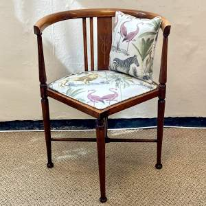 Edwardian Reupholstered Corner Chair