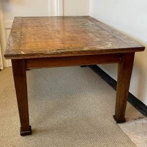 Vintage Large Oak Art Department Table