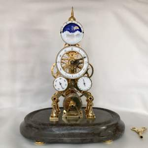 Four Dial 8-Day Fusee Skeleton Clock after Franz Denk Vienna
