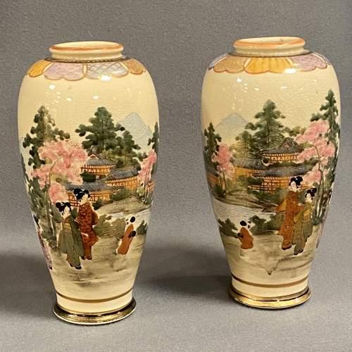 Pair of Japanese Satsuma Vases image-2