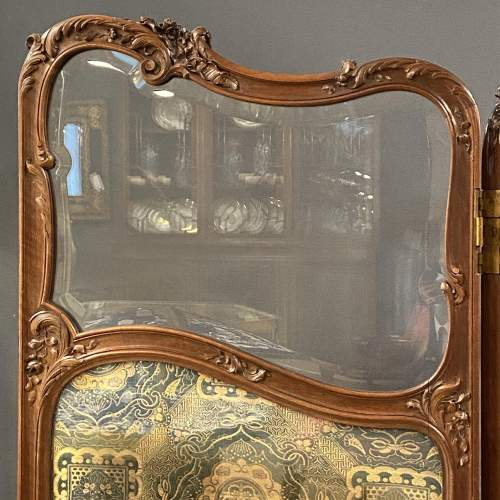 Fine 19th Century Carved and Shaped Walnut Screen image-2