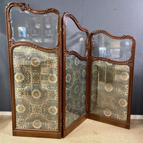 Fine 19th Century Carved and Shaped Walnut Screen image-1