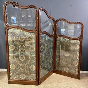 Fine 19th Century Carved and Shaped Walnut Screen