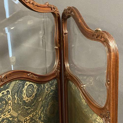 Fine 19th Century Carved and Shaped Walnut Screen image-4