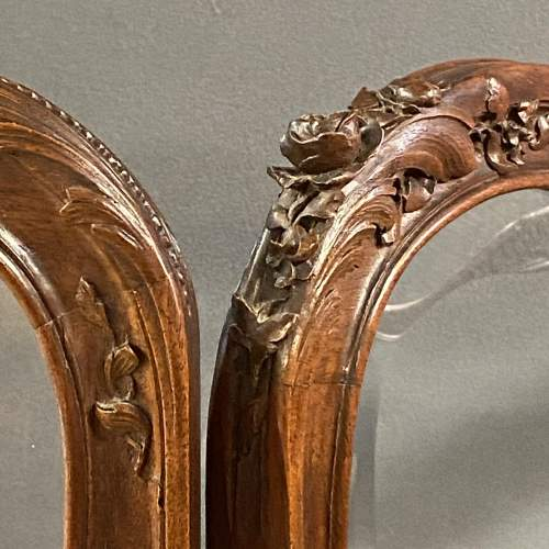Fine 19th Century Carved and Shaped Walnut Screen image-3