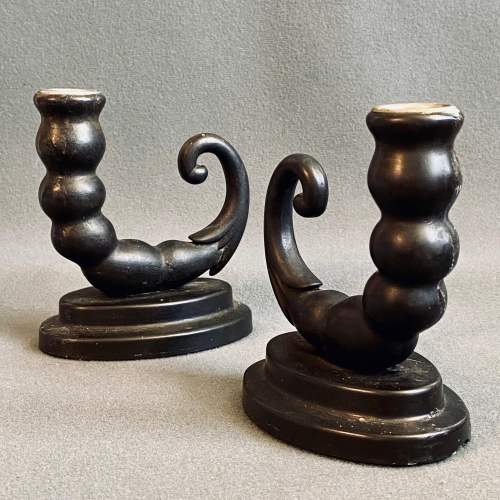 Pair of Early 20th Century Bakelite Candlesticks image-1