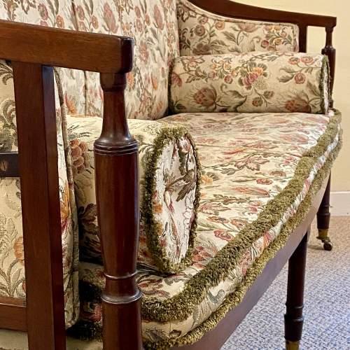 Regency Period Mahogany Framed Upholstered Settee image-2