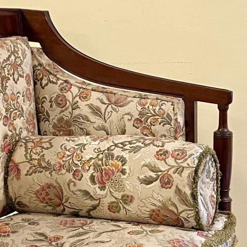 Regency Period Mahogany Framed Upholstered Settee image-3