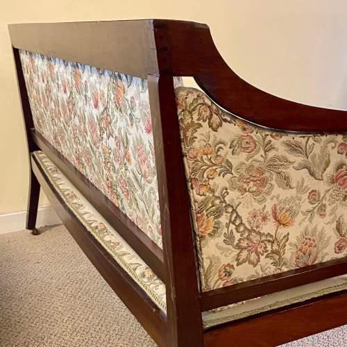 Regency Period Mahogany Framed Upholstered Settee image-5