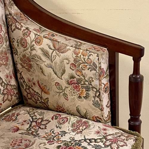 Regency Period Mahogany Framed Upholstered Settee image-6