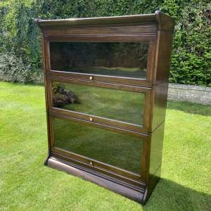 Oak Three Height Sectional Stacking Bookcase on a Stand