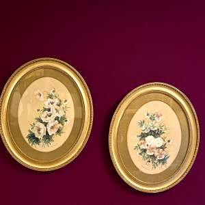 Pair of Victorian Watercolours in Gilt Frames