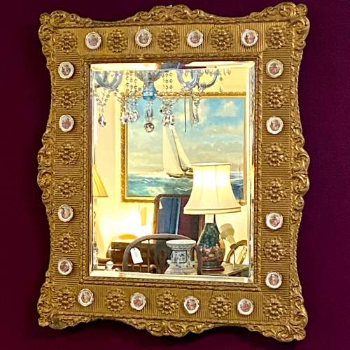 Mid 20th Century French Gilt Wood and Gesso Wall Mirror image-1