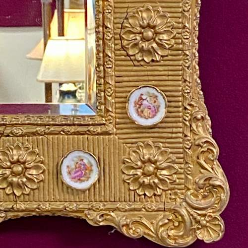 Mid 20th Century French Gilt Wood and Gesso Wall Mirror image-2