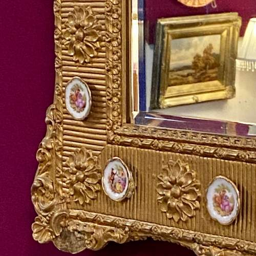 Mid 20th Century French Gilt Wood and Gesso Wall Mirror image-3