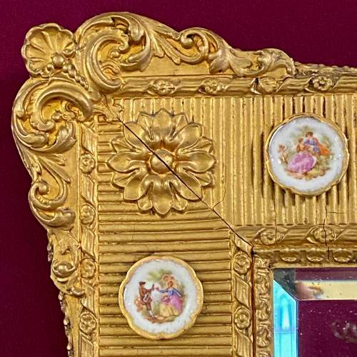 Mid 20th Century French Gilt Wood and Gesso Wall Mirror image-4