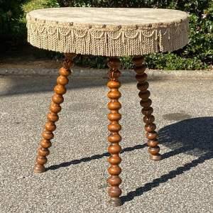 Victorian Bobbin Turned Gypsy Table
