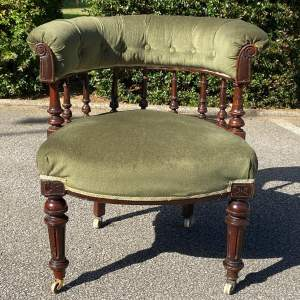 Victorian Green Upholstered Tub Chair