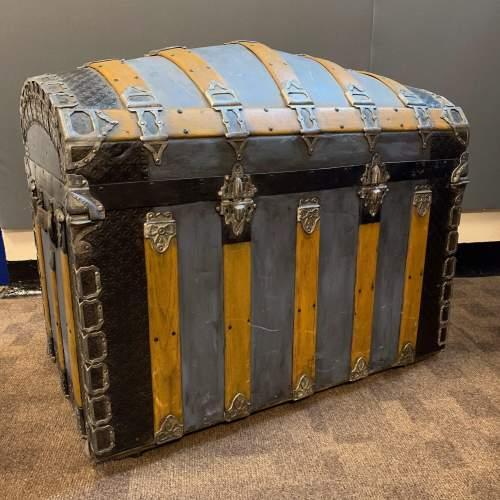Victorian Decorative Steamer Trunk image-3