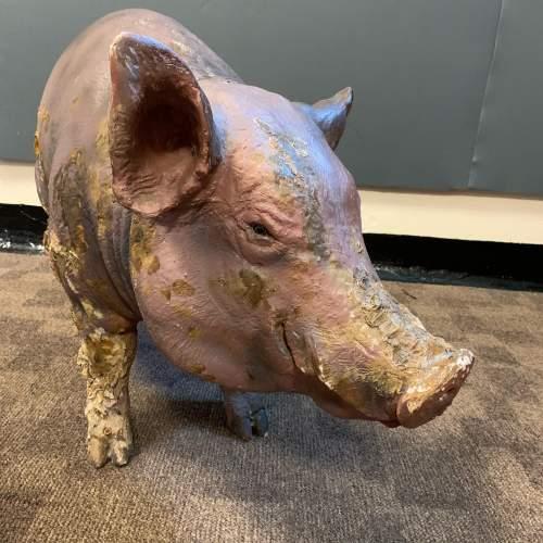 Large Vintage Model Pig image-5