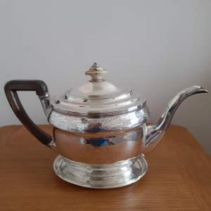 George III Scottish Solid Silver Teapot With Matching Stand