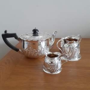 Victorian Three Piece Solid Silver Tea Service