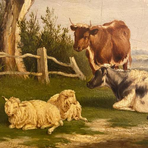 Cattle and Sheep Oil on Board image-2
