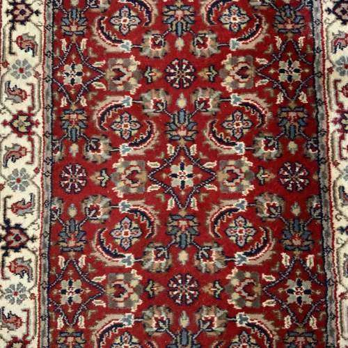 Stunning Hand Knotted Indo-Persian Runner In Herati Design image-2