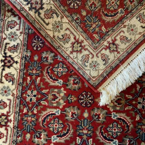 Stunning Hand Knotted Indo-Persian Runner In Herati Design image-4